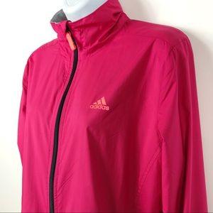 ADIDAS Pink Zip Up Windbreaker Jacket